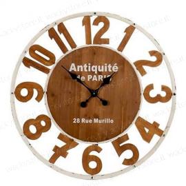 Orologio gigante in legno