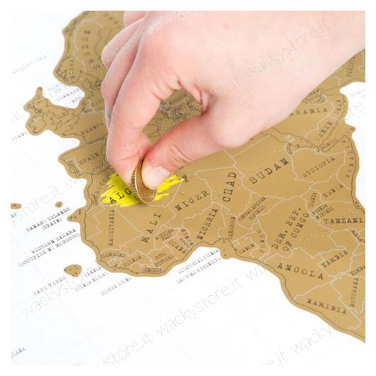 Scratch Map - Mappa del mondo da grattare