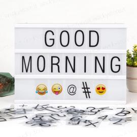 Lavagna luminosa formato A4 - Con lettere, numeri ed emoticons inclusi