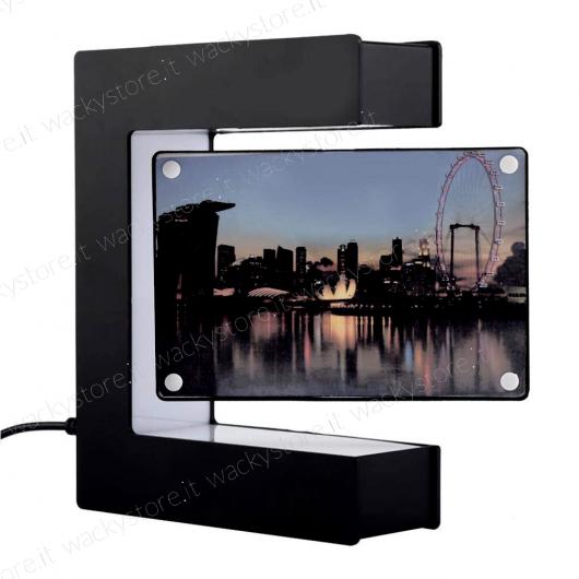 Portafoto e lampada fluttuante - Levitron - Con lievitazione elettromagnetica - Colore nero