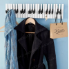Appendiabiti pianoforte - Appendino per decorare con un tocco musicale i propri spazi