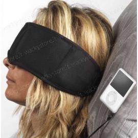 Mascherina per occhi con cuffie incorporate