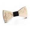 Papillon di legno - Versione con chiave di violino o di Sol - Per musicisti e amanti della musica