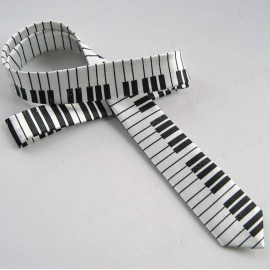 Cravatta, cravattino - Modello pianoforte - Per musicisti e amanti della musica