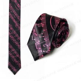 Cravatta, cravattino - Modello pentagramma - Per musicisti e amanti della musica