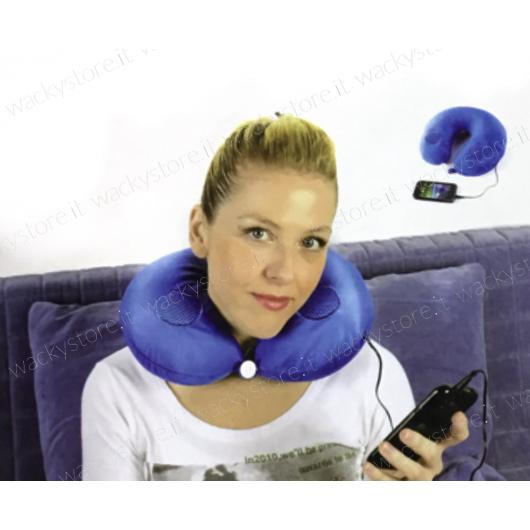 Cuscino per il collo con speaker inclusi - Relax assicurato