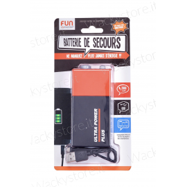 Power bank - Batteria XXL - 2000 mAh - Caricabatterie portatile