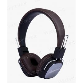 Cuffie in ecopelle - Con microfono - Alta risoluzione audio