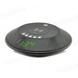 Cassa Bluetooth con sveglia e ricarica wireless - Possiede entrata Micro SD e AUX