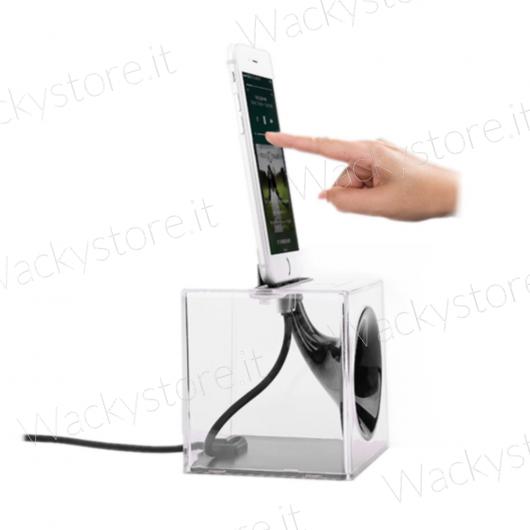 Amplificatore analogico con stazione di ricarica per iPhone