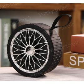 Cassa Bluetooth a forma di ruota - Con entrata USB e Micro SD