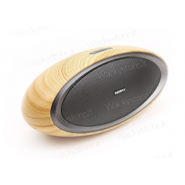 Cassa Bluetooth wood - Con entrata AUX - Altissima qualità audio