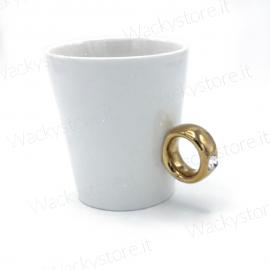 Tazza con anello oro - Confezione inclusa