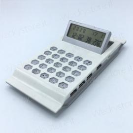 Calcolatrice HUB Tripla porta USB - Con sveglia - Cavetto USB incluso
