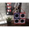 Cassa Bluetooth - Modello America - Con entrata USB, Scheda SD, AUX e radio