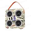 Cassa Bluetooth - Modello rivista di quotidiano - Con entrata USB, Scheda SD, AUX e radio