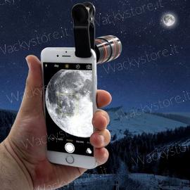Telescopio per smartphone - Lente per foto e video - Ingrandisce ciò che vedi