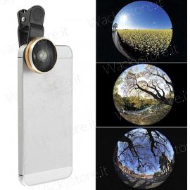 Lente super fisheye per smartphone e tablet - Ottima soluzione anche per i selfie