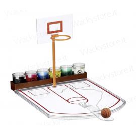 Gioco alcolico - Basket drink - Co supporto e sei bicchierini inclusi