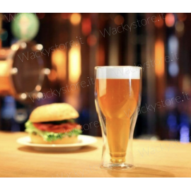 Bicchiere per birra con doppio fondo - Sembrerà di avere una bottiglia al contrario nel bicchiere