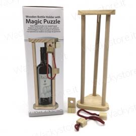 Portabottiglia gioco di ingegno - Risolvi il rompicapo per prelevare la bottiglia