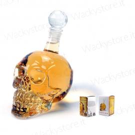 Bottiglia liquore a forma di teschio