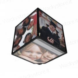 Portafoto cubo girevole - Ruota nel senso che preferisci - Misura foto 10X10 CM