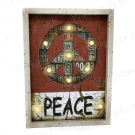 Quadro decorativo luminoso in legno - Con vari effetti luminosi