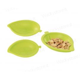 Happy Cook - Set tre vassoietti in silicone - Foglie