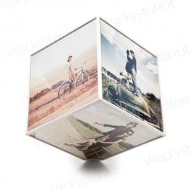Portafoto cubo girevole - Ruota nel senso che preferisci - Misura foto 15X15 CM