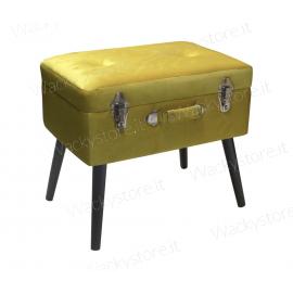Pouf bauletto - Formato valigia con piedi - Il contenitore é apribile