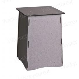 Pouf - Sgabello in legno con stampa simil cemento