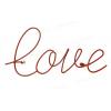 Appendiabiti Love - Accessori per il fissaggio inclusi