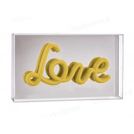 Decorazione luminosa con specchio - Love