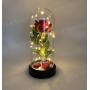 Lampada Rosa incantata sotto la campana di vetro