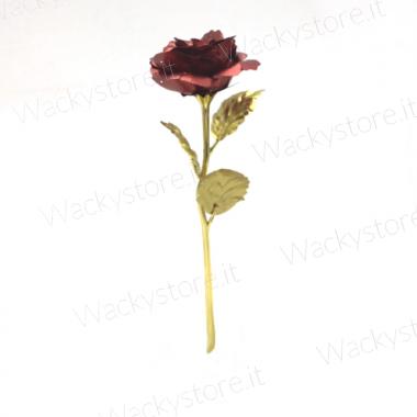 Rosa rossa in metallo ...