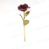 Rosa rossa in metallo pregiato - Lavorata a mano