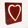 Cuore luminoso in metallo rosso - Con possibilità di scriverci sopra