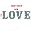 LOVE - Quattro lettere in metallo con lampadine - Versione XXL