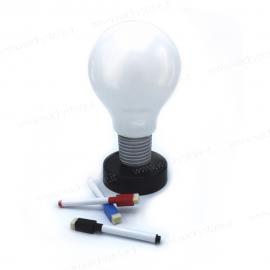 Lampada lampadina push - Con pennarelli inclusi
