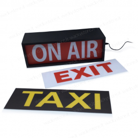 Light box  On Air - Taxi - Exit