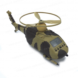 Orologio sveglia - Elicottero - Con elica rotante