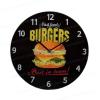 Orologio da parete - Fast food burgers