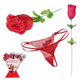 Confezione rosa rossa con perizoma sexy