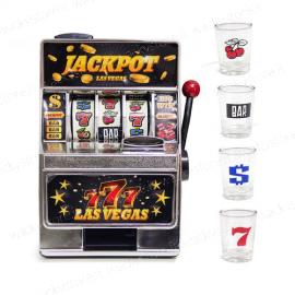 Gioco alcolico - Slot machine con bicchierini inclusi